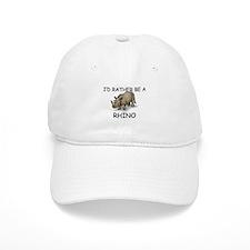 I'd Rather Be A Rhino Baseball Cap