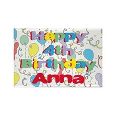 Anna's is four years old and Rectangle Magnet