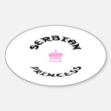 Serbian Princess Oval Decal