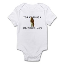 I'd Rather Be A Red-Tailed Hawk Infant Bodysuit