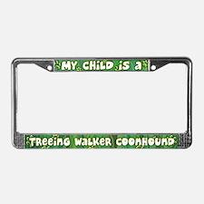 Kid Treeing Walker Coonhound License Plate Frame