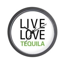 Live Love Tequila Wall Clock