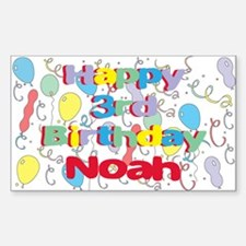 Noah's 3rd Birthday Rectangle Decal