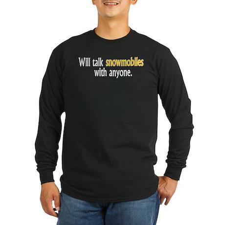 Talking Snowmobiles Long Sleeve Dark T-Shirt