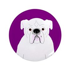 """Bully (White) 3.5"""" Button (100 pack)"""