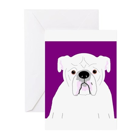 Bully (White) Greeting Cards (Pk of 10)