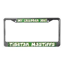 My Children Tibetan Mastiff License Plate Frame