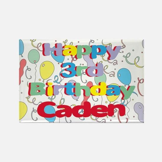 Caden's 3rd Birthday Rectangle Magnet