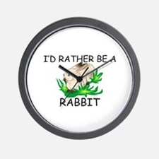 I'd Rather Be A Rabbit Wall Clock