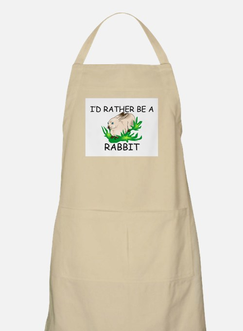 I'd Rather Be A Rabbit BBQ Apron