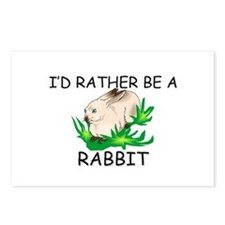 I'd Rather Be A Rabbit Postcards (Package of 8)