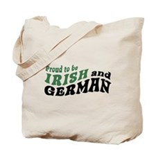 Proud Irish and German Tote Bag
