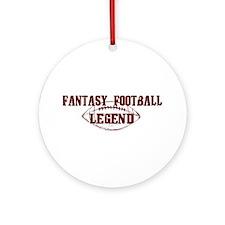 Fantasy Football Legend (new) Ornament (Round)