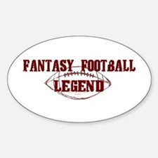 Fantasy Football Legend (new) Oval Decal