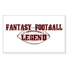 Fantasy Football Legend (new) Rectangle Decal