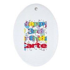 Carter's 3rd Birthday Oval Ornament