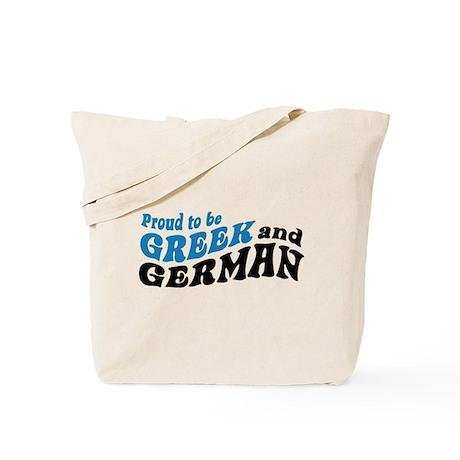 Proud Greek and German Tote Bag