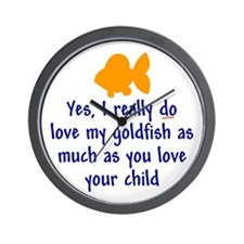 Love goldfish...child. Wall Clock