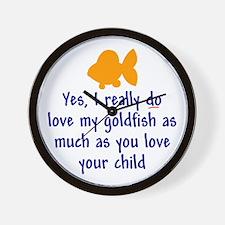 Love goldfish...child. Wall Clock