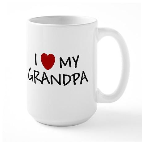 I LOVE MY GRANDPA SHIRT BABY Large Mug