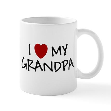 I LOVE MY GRANDPA SHIRT BABY Mug