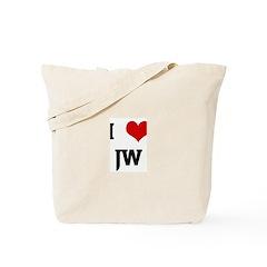 I Love JW Tote Bag