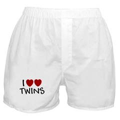I HEART HEART TWINS SHIRT I L Boxer Shorts