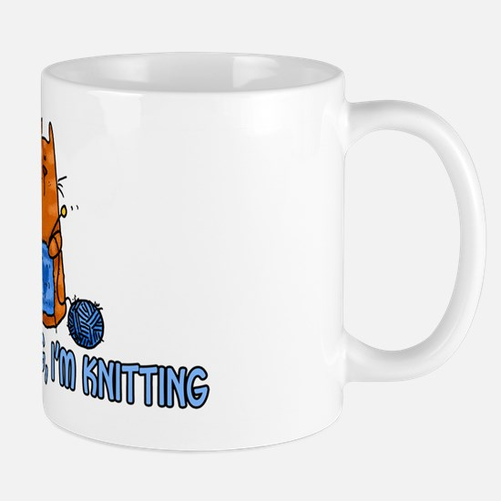 if i'm sitting, i'm knitting Mug
