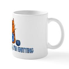 if i'm sitting, i'm knitting Small Mug