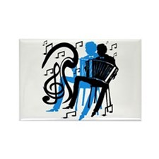 Accordion Player Rectangle Magnet