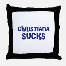 Christiana Sucks Throw Pillow