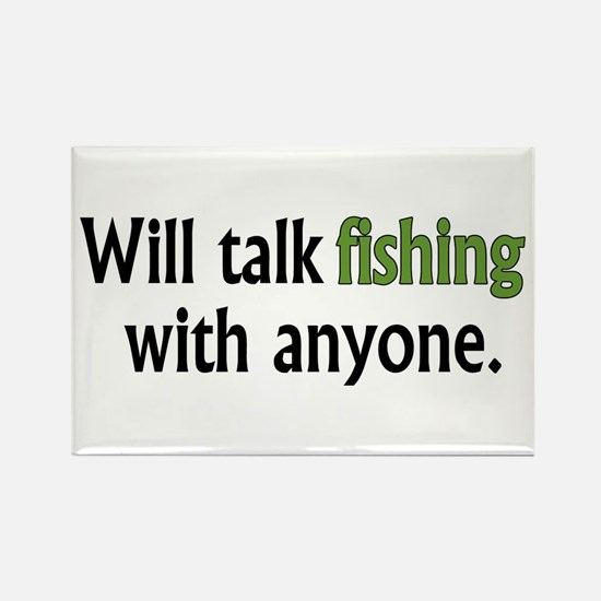 Fishing Talk Rectangle Magnet