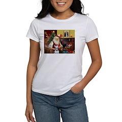 Santa's Bull Terrier Women's T-Shirt