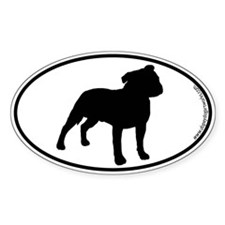 Stafford SILHOUETTE Oval Decal