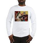 Santa's Bullmastiff #7 Long Sleeve T-Shirt