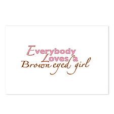 Brown Eyed Girl Postcards (Package of 8)