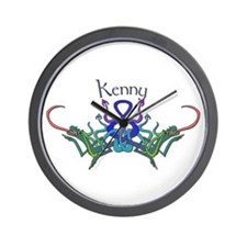 Kenny's Celtic Dragons Name Wall Clock