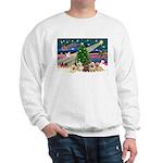 Xmas Magic & 5 Cairn Terriers Sweatshirt