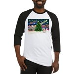 Xmas Magic & Cairn Terrier Baseball Jersey
