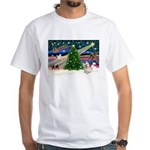Xmas Magic & Cairn Terrier White T-Shirt