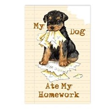 Airedale Ate Homework Postcards (Package of 8)