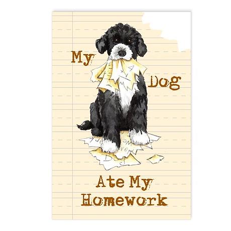 PWD Ate Homework Postcards (Package of 8)