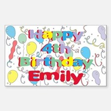 Emily's is four years old an Rectangle Decal