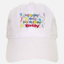 Emily's is four years old an Baseball Baseball Cap