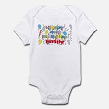 Emily's is four years old an Infant Bodysuit