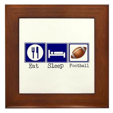 Eat, Sleep, Football Framed Tile