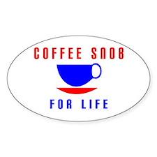 Coffee Snob Oval Decal