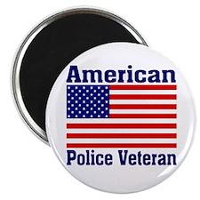 American Police Veterans Patriotic Flag Magnet
