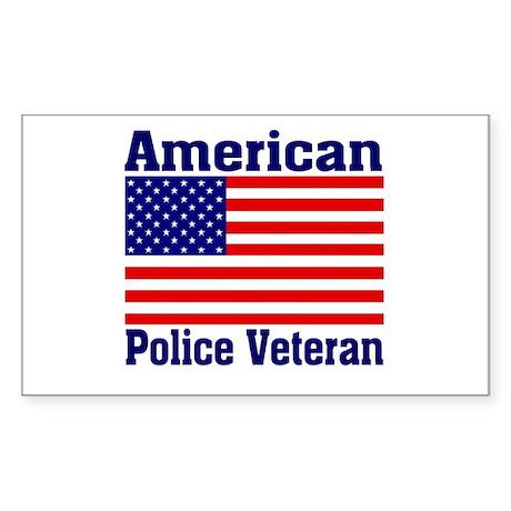 American Police Veterans Patriotic Flag Sticker (R