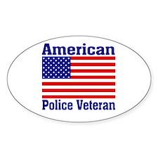 American Police Veterans Patriotic Flag Decal